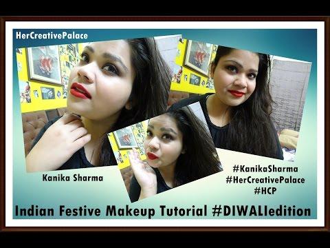 Simple Indian Festive Makeup Tutorial   Kanika Sharma  