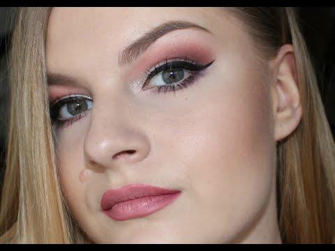 Pink Lipstick with glitter / Valentine's Day Makeup tutorial ♥