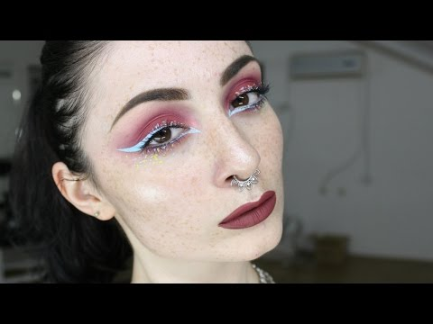 Red smokes & blue lines   Lime Crime   by Ilona