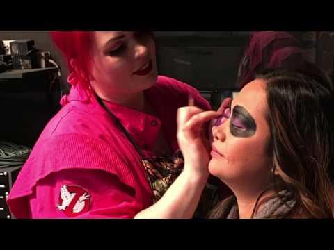 CTV Morning Live behind the scenes of VisualEyeCandy live Halloween Makeup Demo