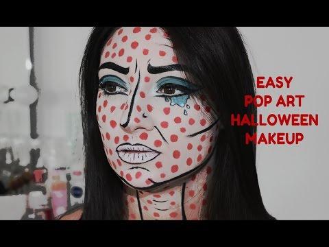 Easy Pop Art Halloween makeup