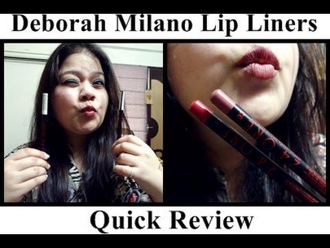 Deborah Milano Lip Liners: Review + Swatch   Kanika Sharma  