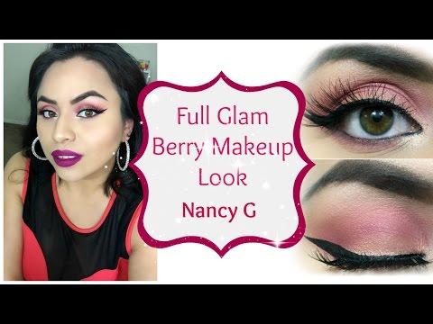 Full Glam Berry Makeup look | Nancy G