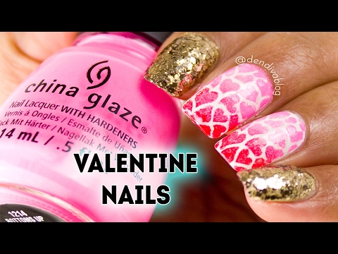 Easy Glam Valentine's Nails