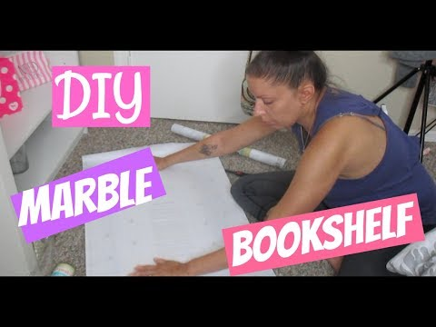 DIY Marble Bookshelf | Beauty Room | Bedroom