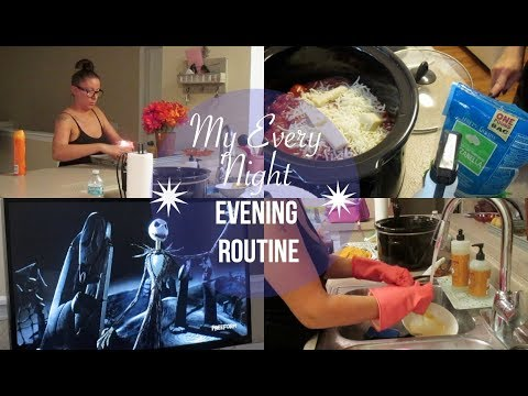 My Every Night Evening Routine | Cooking, Cleaning | Cleaning Motivation | Stay At Home Mom