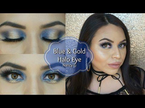 Blue & Gold Halo Eye | Nancy G