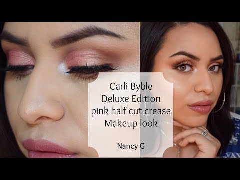 Pink Half Cut Crease | Carli Bybel Deluxe Edition palette | Nancy G