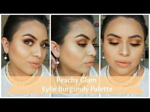 Peachy Glam | Kylie Burgundy Palette | NancyG