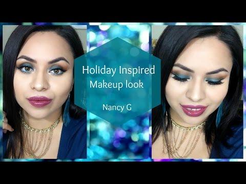 Holiday Inspired Makeup look | Nancy G