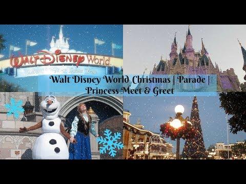 Christmas At Walt Disney World | Parade | Princess Meet & Greets
