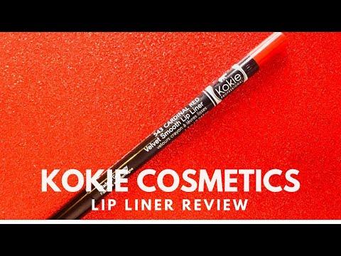 Wednesday Reviews | Kokie Cosmetics | Velvet Smooth Lip Liner in Cardinal Red