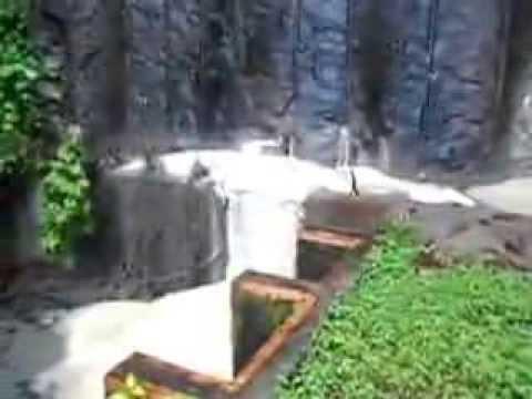 Vídeo mostrando a espuma saindo da Usina Nuclear de Angra dos Reis