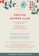 Festive seasonal Supper Club hosted by chef & author Alan Rosenthal at Renaissance