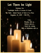 Let There be Light: Christmas Eve Candlelight Service