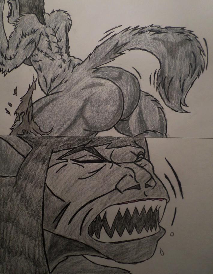 Jill's Werewolf Transformation