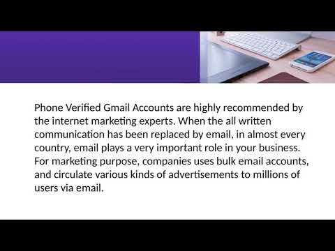 Why Buy Gmail Accounts?
