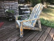 All cement Adirondack Chair