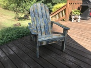 All cement Adirondack Chair 2