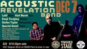 ACOUSTIC REVELATION Band feat. Co-Leaders - Sensei Latif & Karl Marsh @ The 'new' World STAGE
