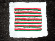 Framed Striped Square
