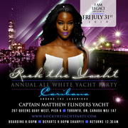 rockROCK THE YACHT THE 8th ANNUAL ALL WHITE YACHT PARTY • TORONTO CARIBANA 2020
