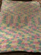 Lucy's knitted blanket