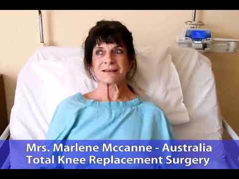 Marlene Mccanne from Australia Successful Total Knee Replacement Surgery in Delhi India