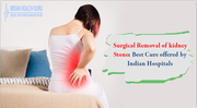 Surgical removal of kidney stone Best cure offered by Indian Hospitals
