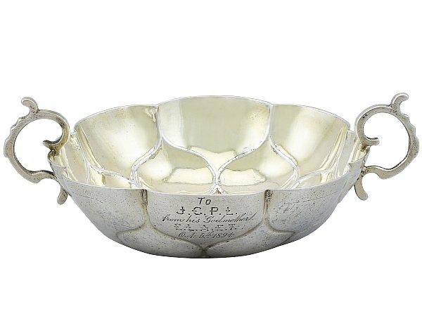 German Silver Wine Taster - Antique Circa 1695