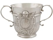 Britannia Standard Silver Porringer - Antique Queen Anne (1707)