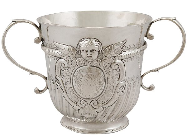 Britannia Standard Silver Porringer - Antique Queen Anne (1707)