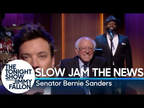Watch Bernie Sanders, The Roots & Jimmy Fallon Slow Jam the News on the 'Tonight Show'