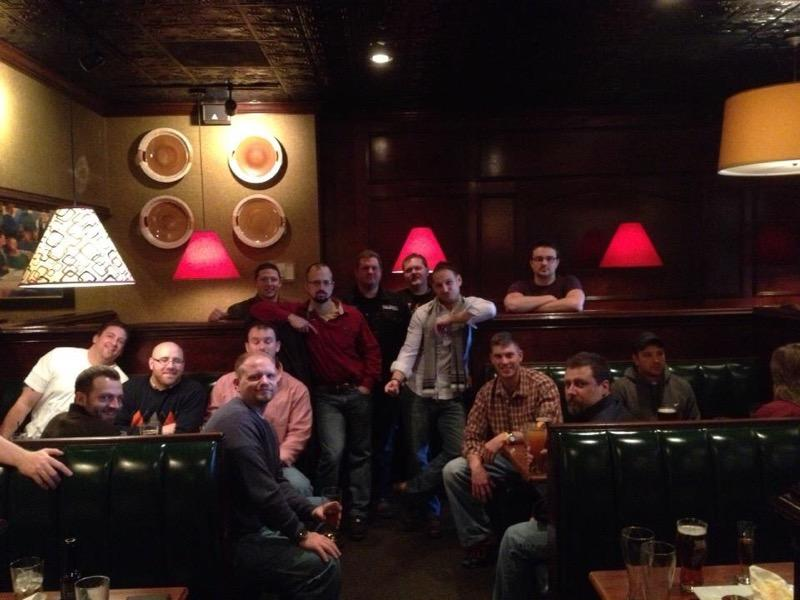 At Ruby Tuesdays having a Blue Moon with the Xmas crew 2012.