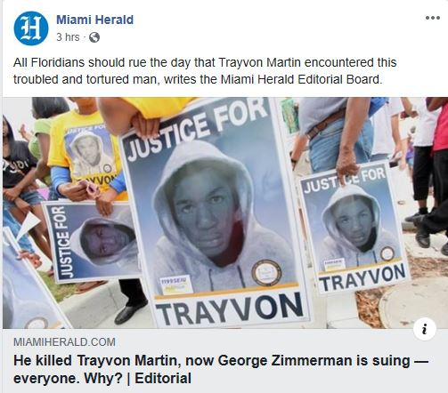 Miami-Herald-Still Defending Trayvon