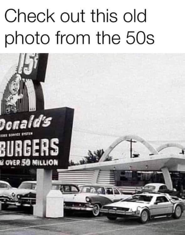 Vintage photo from the 1950s.