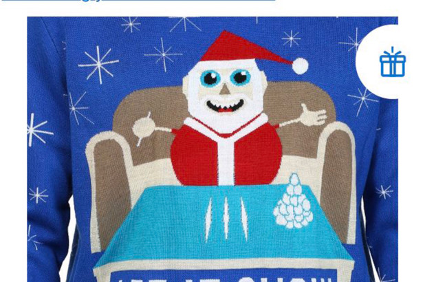 Walmart apologizes for sweater featuring Santa with cocaine.
