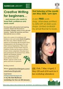 Writing workshop beginning 4th Jan - first one free!