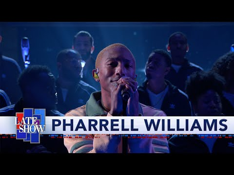 "Watch Pharrell Perform ""Letter to My Godfather"" on 'The Late Show with Stephen Colbert'"