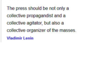 The Press - Lenin