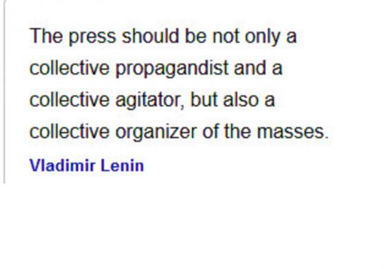 The Press - Lenin