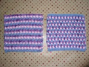 Blue/pink/purple squares