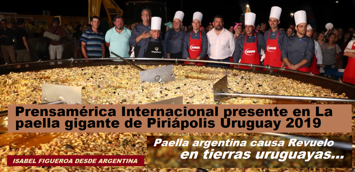 Paella gigante de Argentina causa revuelo en Uruguay / GASTRONOMÍA