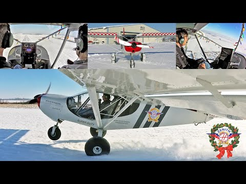 Flying the Zenith STOL CH 750 Super Duty on fresh snow