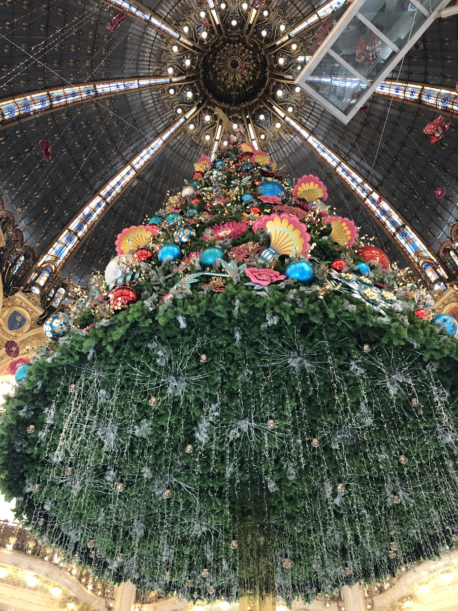 Christmas Decorations at Galeries Lafayette
