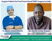 Angola Patient Got Fast Track TURP Urology Surgery in India