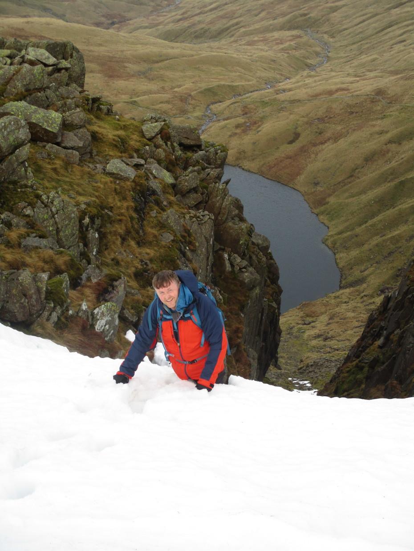 Top of Angle Tarn Gully