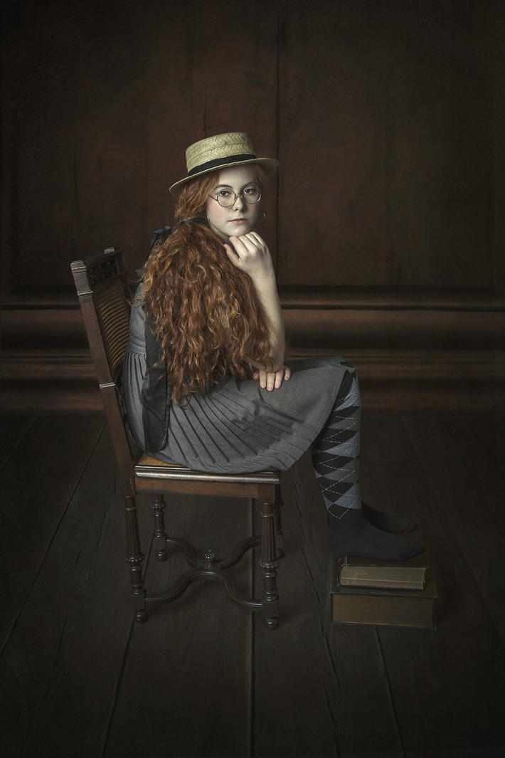 Old-fashioned English schoolgirl