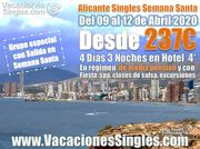 Alicante Singles Semana Santa 2020