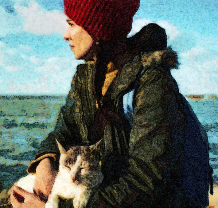 Emma with Cat